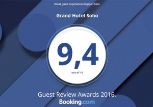 Guest Review Award 2016 Soho Grand Hotel